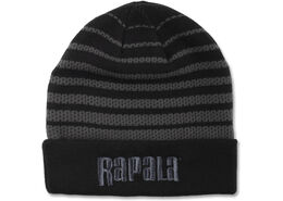 Rapala® Mesh Knit Beanie with Cuff (Black with Grey Logo)