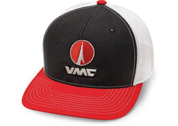VMC Trucker Cap Black Red White Mesh