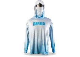 Rapala® Performance Hood with Neck Gaiter White Blue