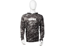 Rapala® Elements Hooded Long Sleeve Performance T-Shirt - Black Tip