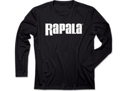 Rapala® 1 Logo Long Sleeve Performance - Black