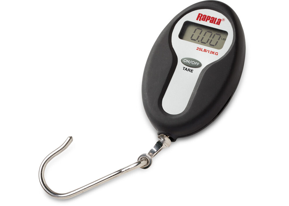 Manual fishing scale upto 25kg / 50lb to test reel drag and weigh.