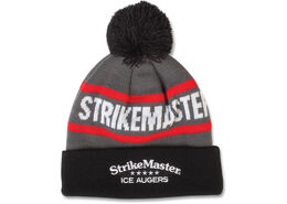StrikeMaster® Pom Beanie - Black Grey Red