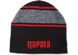 Rapala® Variegated Striped Beanie (Black with Red Logo)