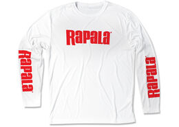 Rapala® 3 Logo Long Sleeve Performance - White