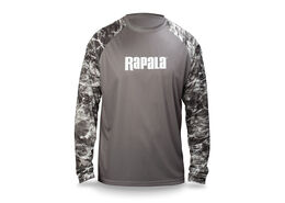 Rapala® Elements Long Sleeve Performance T-Shirt - Manta/Grey