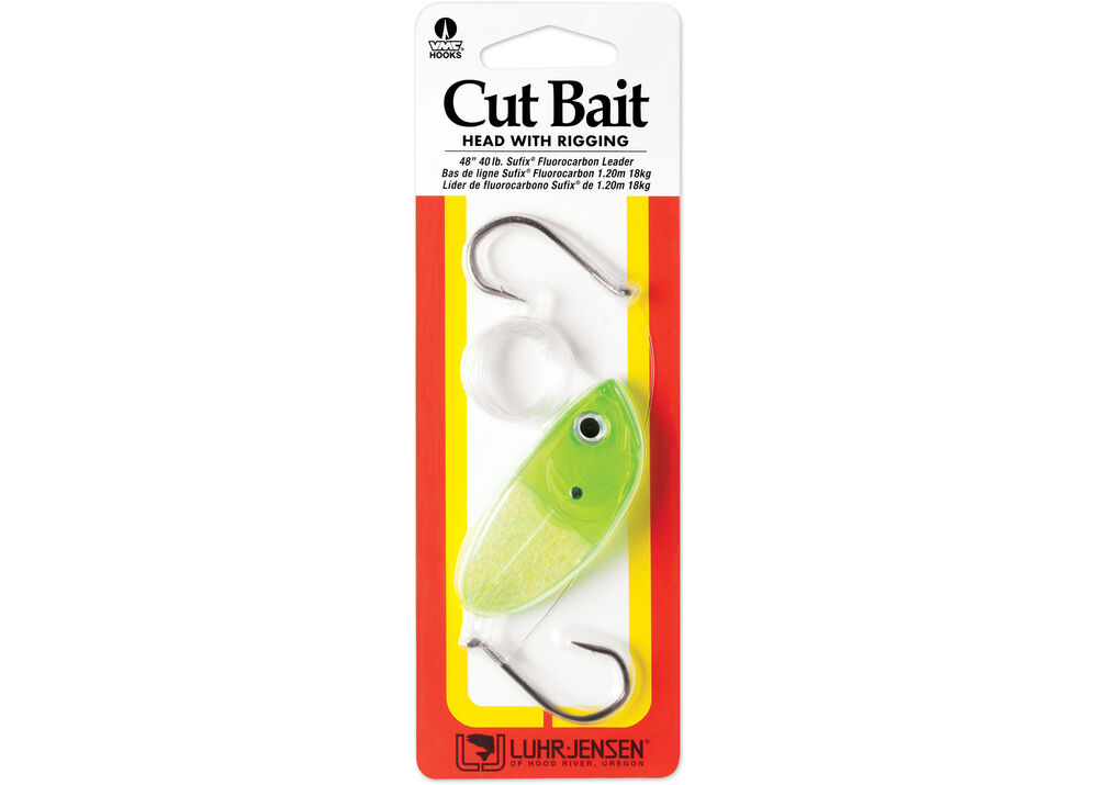 Cut Bait Head with Rigging Lucky Charm