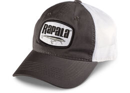 Rapala® Logo Patch Trucker Hat - Grey/White