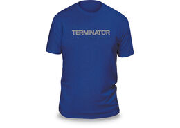 Terminator® Next Level T Shirt Blue / Grey Logo