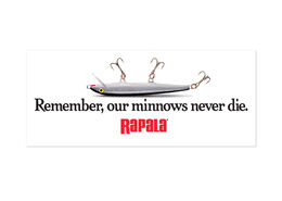 Rapala® Our Minnows Never Die Decal