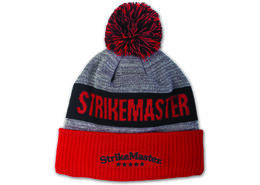 StrikeMaster® Pom Beanie - Red Black