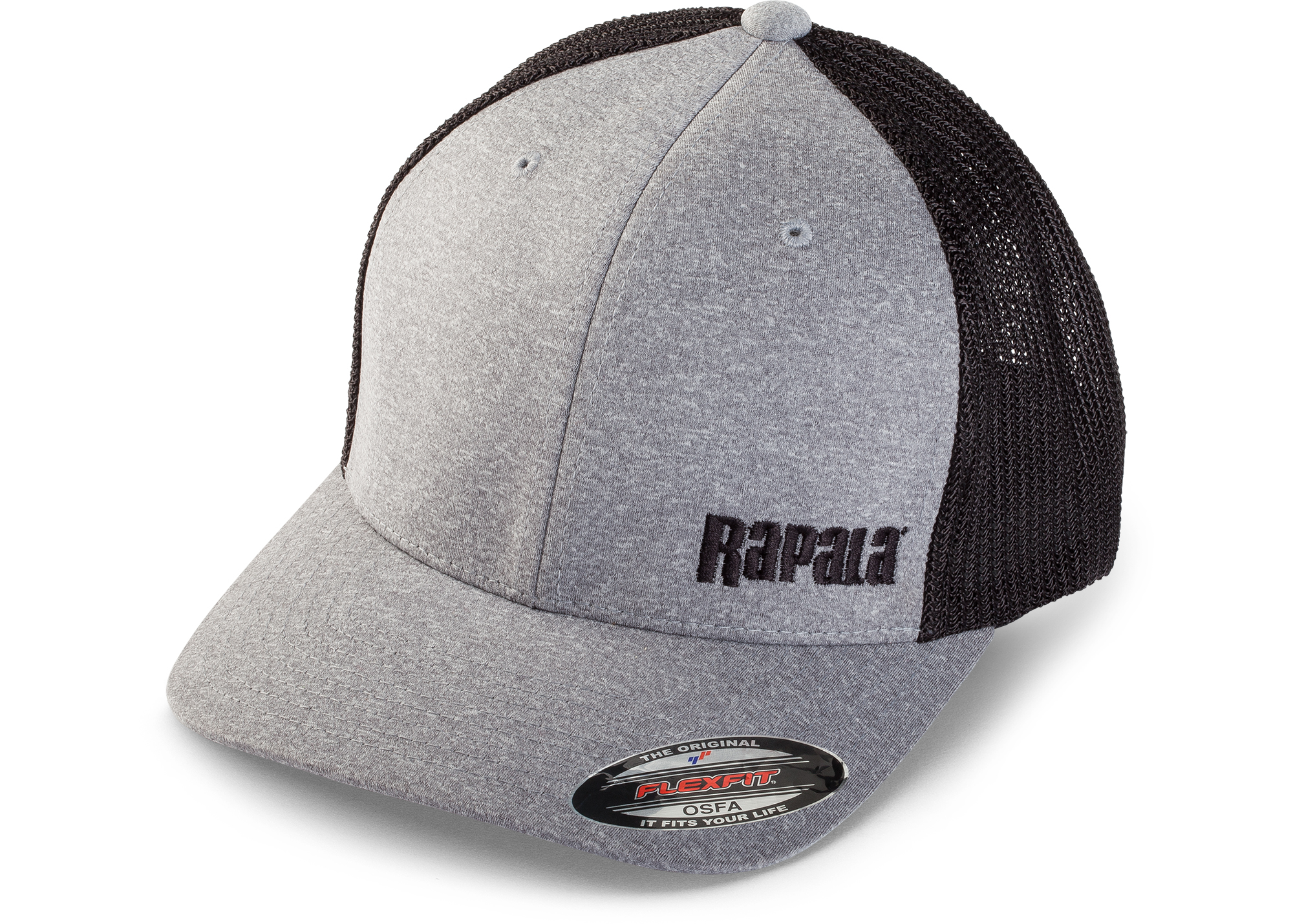 Ice Force Knit Hat by Rapala Fishing Gray Black Red OSFA