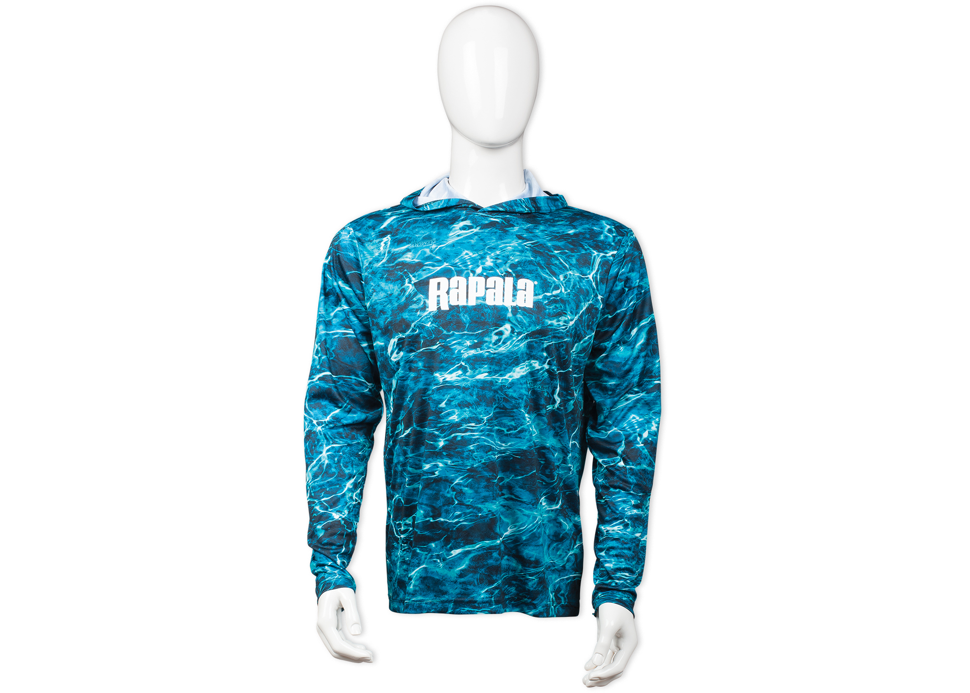 Rapala® Elements Hooded Long Sleeve Performance T-Shirt - Sea Water