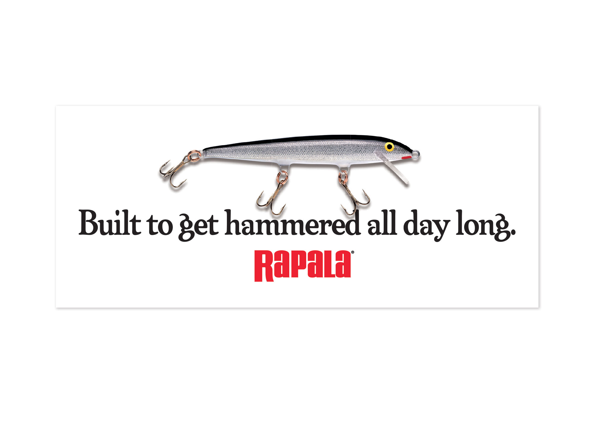 Rapala® Built To Get Hammered Decal
