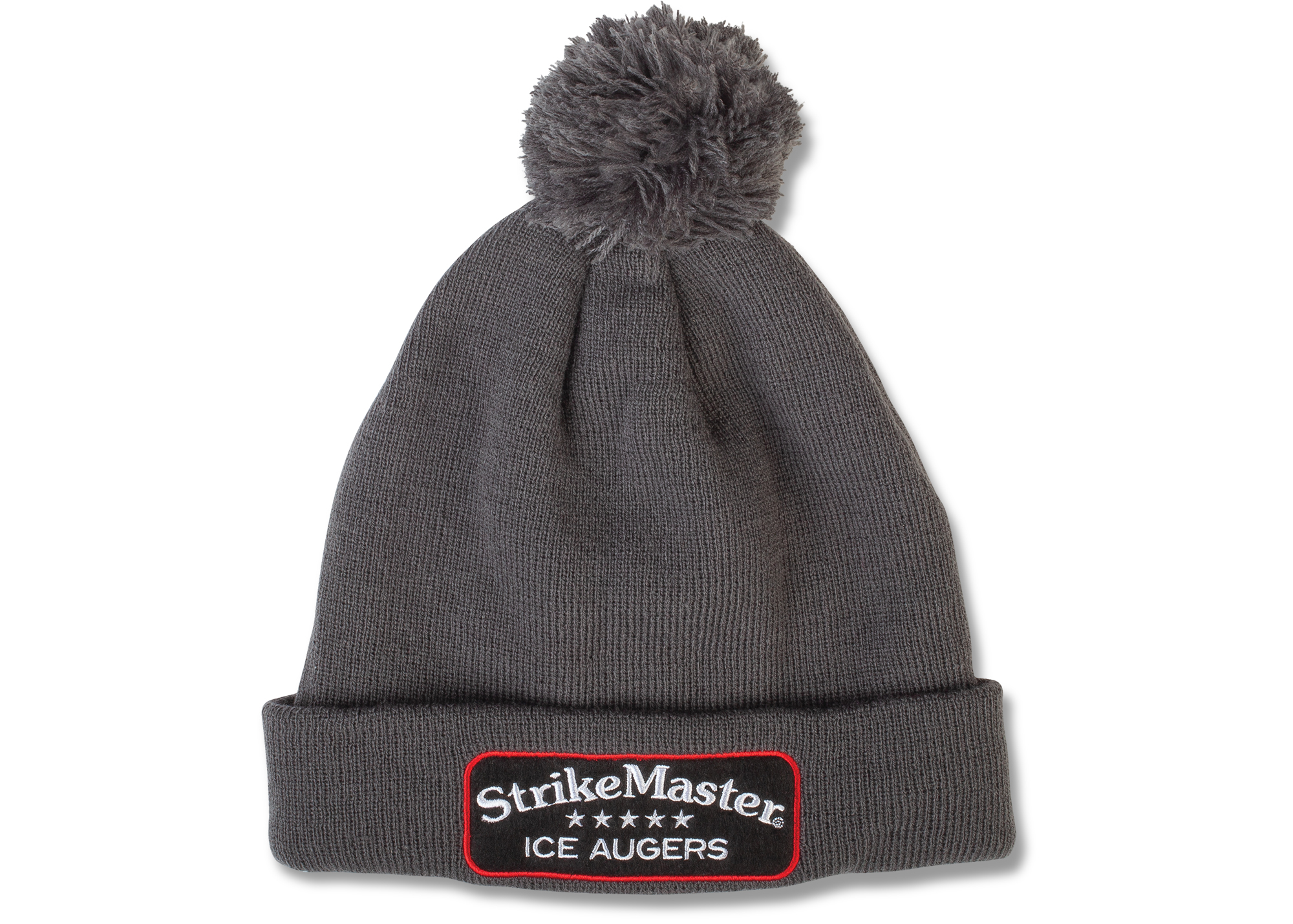 StrikeMaster® Pom Beanie - Grey Grey Black