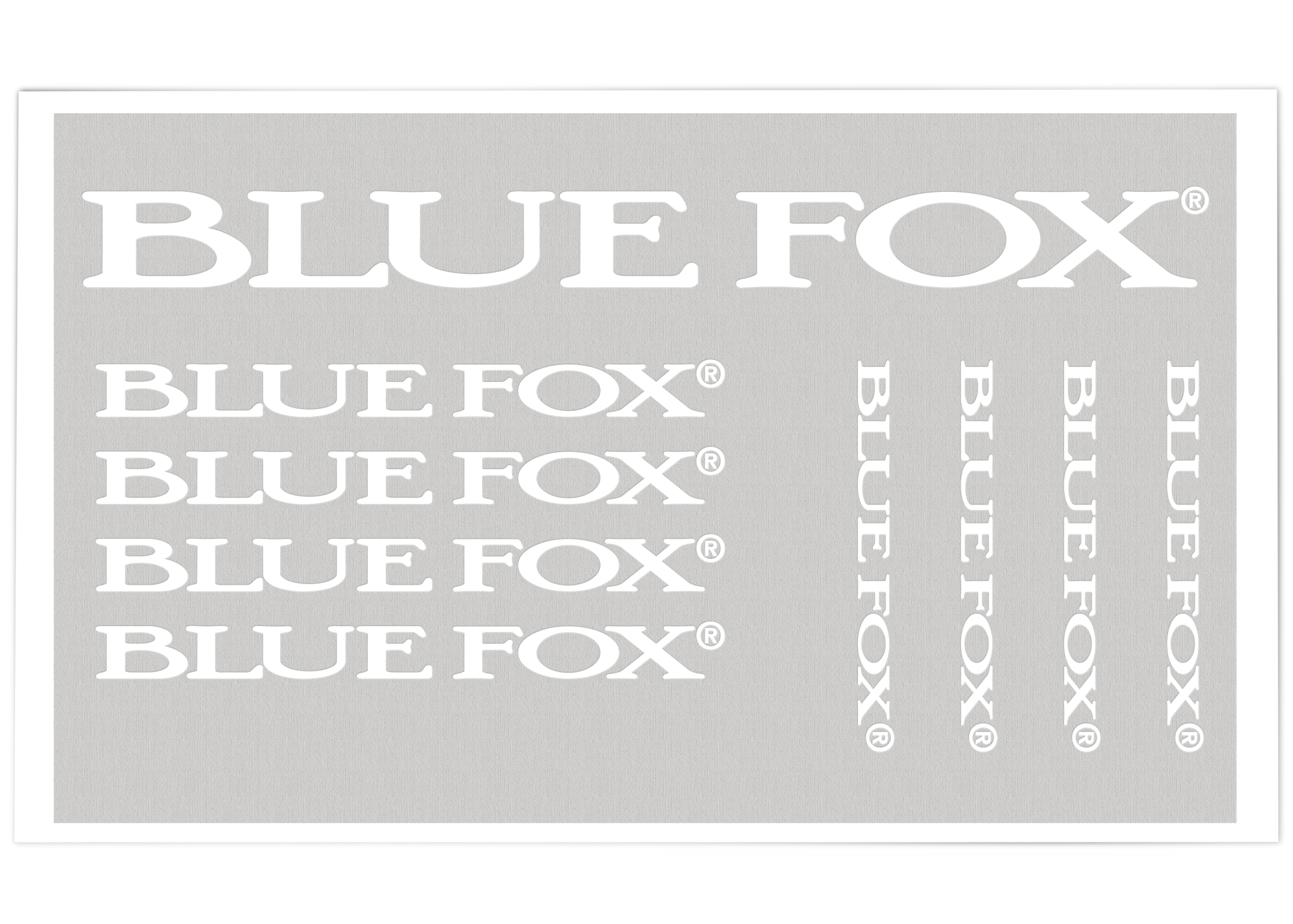 Blue Fox Pro Staff Decals Bulk