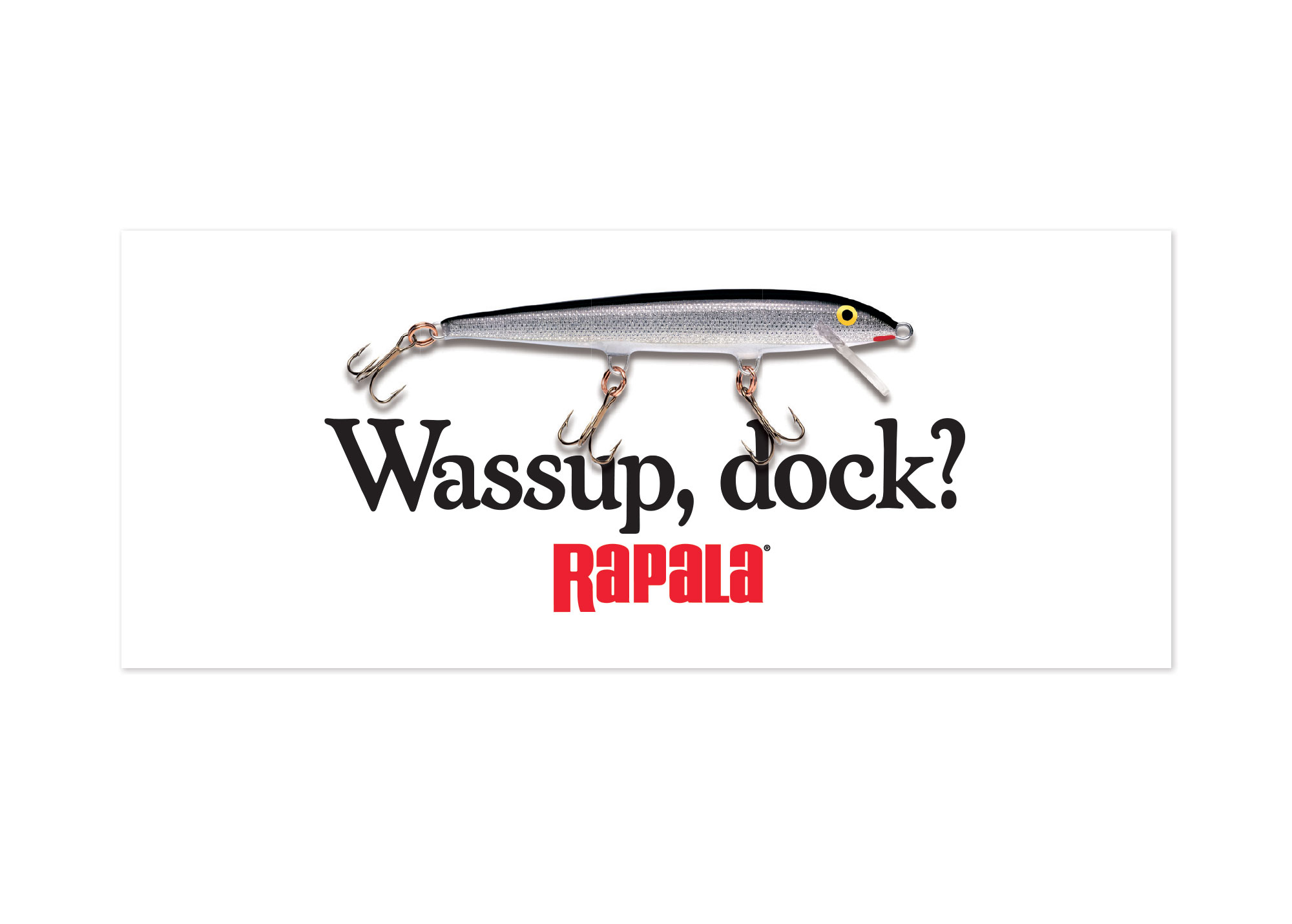 Rapala® Wassup Dock? Decal