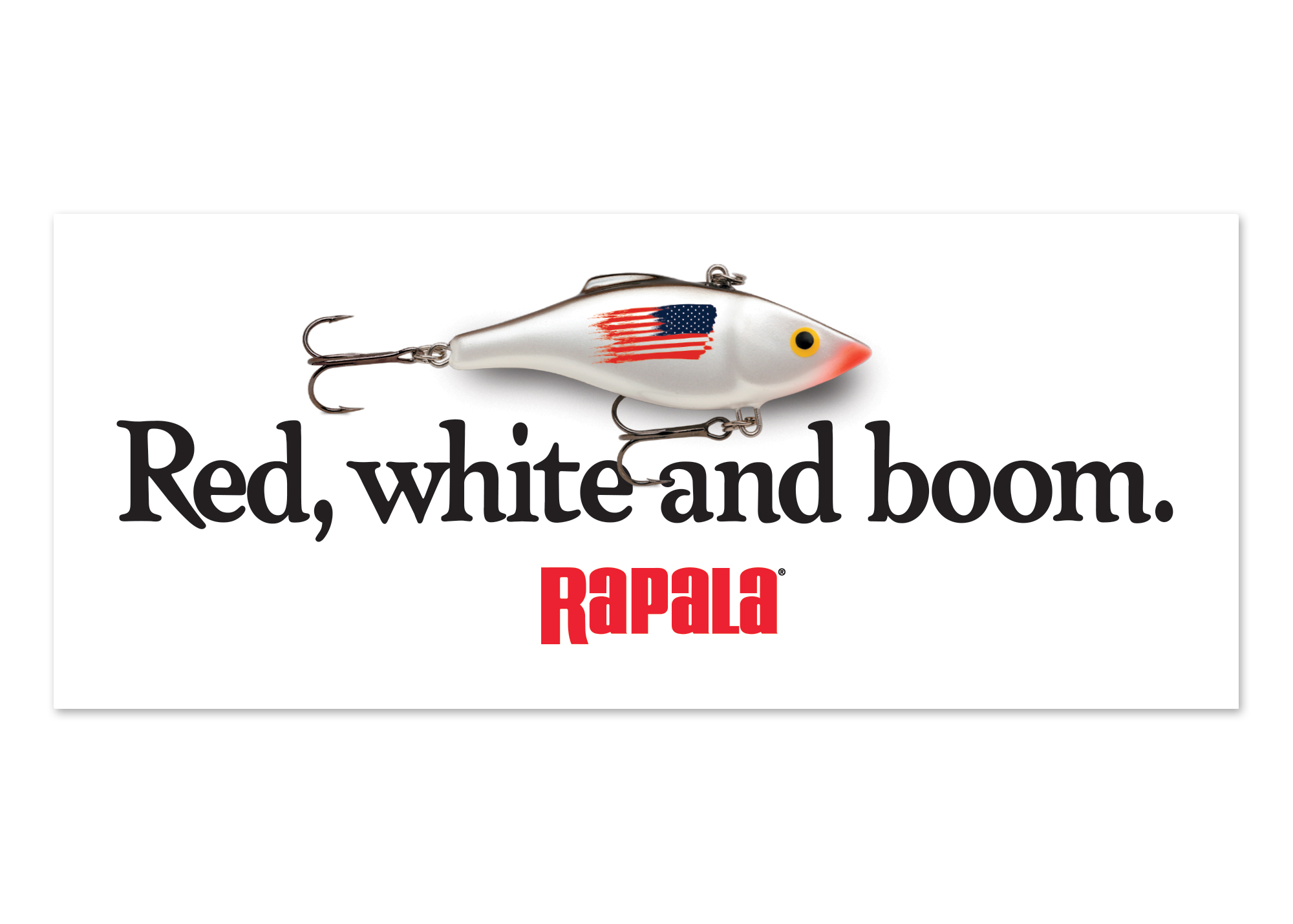 Rapala® Red, White & Boom Decal